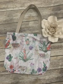 Lovely Llama Sequin Tote Bag