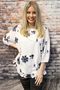Going Up Floral Top With Elastic Waist In Multiple Colors- Sizes 4-10