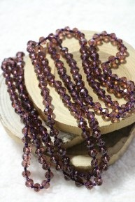 Point Of Perfection Beaded Necklace In Grape Juice