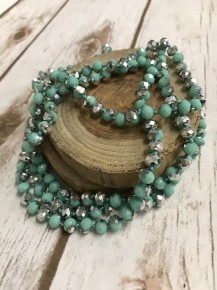 Point Of Perfection Necklace In Turquoise Bling