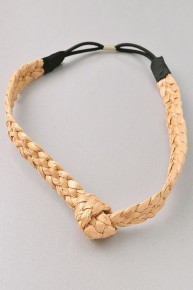 Braided Woven Headband with Knot in Multiple Colors