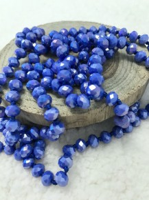 Point Of Perfection Beaded Necklace in Periwinkle