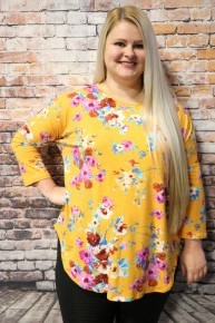 Think Of You Floral Top In Multiple Colors - Sizes 4-20