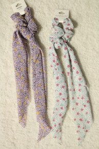 Finding My Way Floral & Dotted Scrunchie Hair Scarf In Multiple Colors