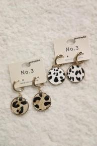 A New Way Disc Drop Earrings In Multiple Prints