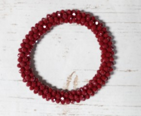 Perfect Stretch Burgundy Sparkle Beaded Bracelet