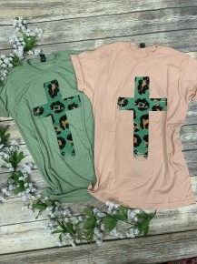 Lead Me To The Cross Leopard Tee- Sizes 4-18 -Multiple Colors