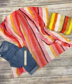 Lets Watch The Sunrise Striped Kimono - Multiple Colors