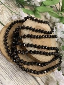 Point Of Perfection Beaded Necklace In Deep Brown