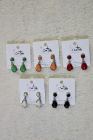 All The Time Mini Pendant Earrings In Multiple Colors