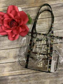 Ready For Every Outing Clear Tote Bag - Camo