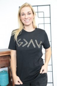 God Is Greater Than The Highs And Lows Graphic Tee With Leopard Detail- Sizes 4-18