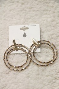 Night Out Double Beaded Hoop Earring In Multiple Colors
