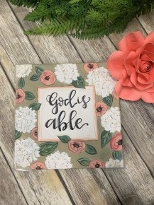 God Is Able Canvas Print Sign