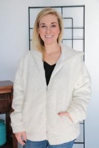 Season Of Love Zip-Up Sherpa Jacket Sizes 10-18