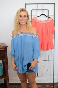 Little Classy Off The Shoulder Top in Multiple Colors - Sizes 4-20