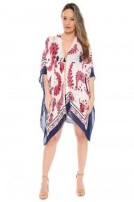 Let's Gooooo Paisley Inspired Print Kimono
