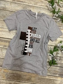 Let the Field be Joyful Football Graphic Tee - Sizes 4-20