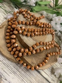 Point Of Perfection Beaded Necklace In Pumpkin Pie