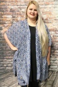 Fun Print Kimono with Tassels in Multiple Colors - One Size Fits Most