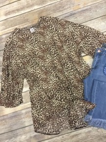 Running To You Leopard Dolman With Tie Front - Sizes 12-20