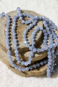 Point Of Perfection Beaded Necklace In Blue Gray