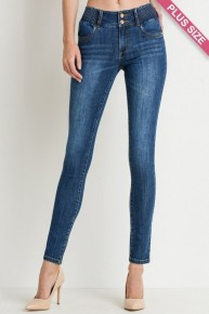 Its All Alright Elastic Waisted Jeans With Double Button- Sizes 12-20