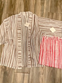 Stripes For Days Super Fun Short Kimono in Multiple Colors