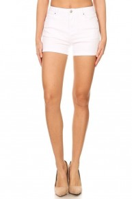 Yours Truly White Bermuda Shorts With Distressing- Sizes 12-20