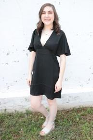 Golden Flame Mini Dress In Black - Sizes 4-10