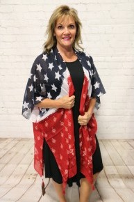 It's All About The American Flag Kimono with Tassels