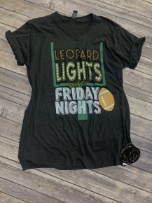 Leopard Lights And Friday Nights Graphic Tee