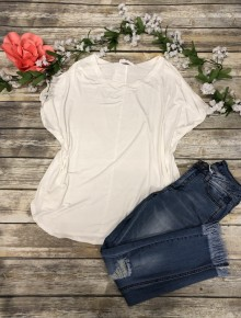Dreaming Of You Basic Short Sleeve Top In White