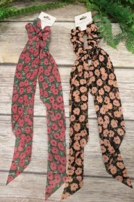 Walk Through The Meadow Floral Hair Scarf In Multiple Colors