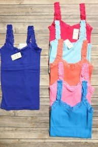 You New Favorite Lace Cami One Size Fits Most 4-10 In Multiple Colors