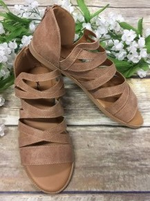 Take Me Back Strappy Sandals in Taupe