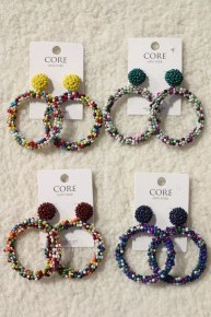Happy Days Seed Bead Hoops In Multiple Colors