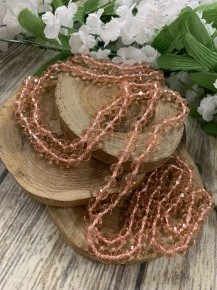 Point Of Perfection Beaded Necklace in Peach Pink