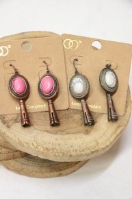 Forever Young Marble Pendant Earrings In Multiple Colors