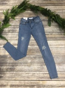 The Sandy Light Denim Distressed Jeans- Sizes 1-15