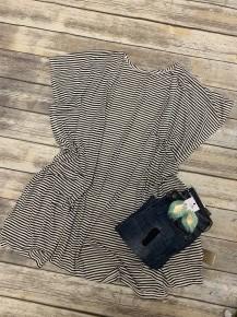 Forever Yours Striped Kimono in Black - Sizes 4-20