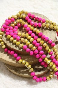 Point Of Perfection Beaded Necklace in Rapunzel