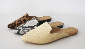 Beach Strolling Pointy Toe Mules in Natural - Sizes 6-10