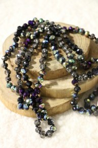 Point Of Perfection Beaded Necklace In Black Beauty