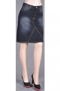 Go with it Black Denim Skirt Sizes 4-10