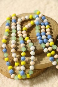 Point Of Perfection Beaded Necklace In Blueberry Lemon