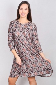 Find Yourself Quatrefoil Print Dress In Black - Sizes 4-20