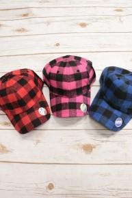 Bring It Back Buffalo Plaid Ballcap - Multiple Colors
