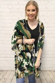 Most Luxurious Camo Kimonos Ever in Multiple Prints - One Size Fits Most