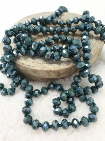 Point of Perfection Beaded Necklace in Hunter Green